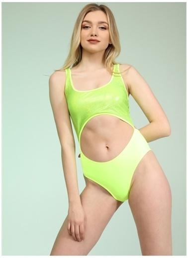 Bellisa Bellisa Neon Sarı Mayo Sarı